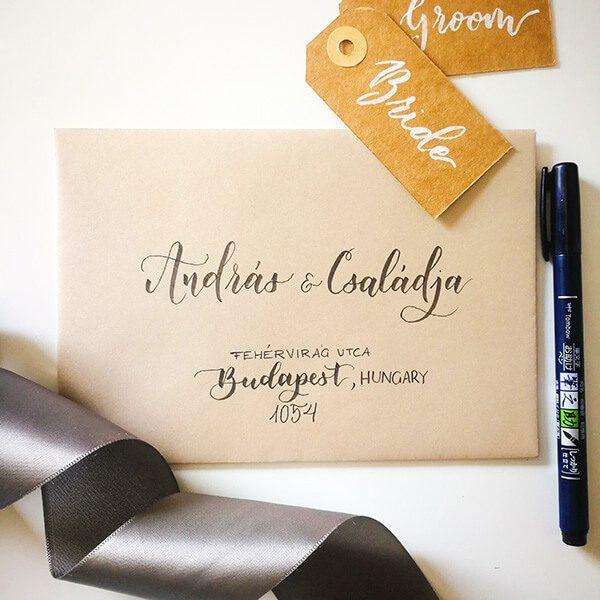 Esküvői kalligráfia workshop Brisign